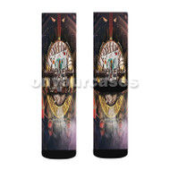 Guns N Roses Miami Custom Sublimation Printed Socks Polyester Acrylic Nylon Spandex with Small Medium Large Size
