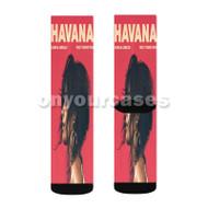 Havana Camila Cabello Feat Young Thug Custom Sublimation Printed Socks Polyester Acrylic Nylon Spand with Small Medium Large Size