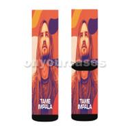 Kevin Parker Custom Sublimation Printed Socks Polyester Acrylic Nylon Spandex with Small Medium Large Size