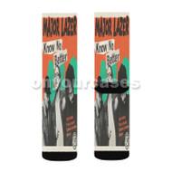 Know No Better Major Lazer Feat Travis Scott Quavo Camila Cab Custom Sublimation Printed Socks Po with Small Medium Large Size