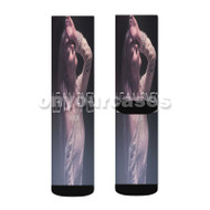 Le Ann Rimes The Story Custom Sublimation Printed Socks Polyester Acrylic Nylon Spandex with Small Medium Large Size