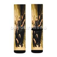 Los Lonely Boys Custom Sublimation Printed Socks Polyester Acrylic Nylon Spandex with Small Medium Large Size