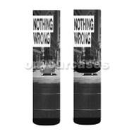 Nothing Wrong G Eazy Custom Sublimation Printed Socks Polyester Acrylic Nylon Spandex with Small Medium Large Size