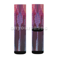 Odesza Custom Sublimation Printed Socks Polyester Acrylic Nylon Spandex with Small Medium Large Size