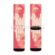 Selena Gomez Bad Liar Custom Sublimation Printed Socks Polyester Acrylic Nylon Spandex with Small Medium Large Size