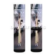 Selena Gomez Fetish Custom Sublimation Printed Socks Polyester Acrylic Nylon Spandex with Small Medium Large Size
