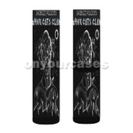 When Cats Claw Shabazz Palaces Custom Sublimation Printed Socks Polyester Acrylic Nylon Spandex with Small Medium Large Size