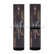 Young Scooter Custom Sublimation Printed Socks Polyester Acrylic Nylon Spandex with Small Medium Large Size