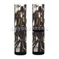 07 Ghost Manga Anime Custom Sublimation Printed Socks Polyester Acrylic Nylon Spandex with Small Medium Large Size