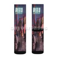 Appleseed XIII 2 Custom Sublimation Printed Socks Polyester Acrylic Nylon Spandex with Small Medium Large Size