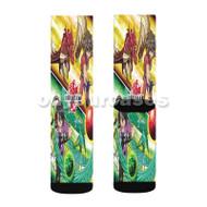 Bakugan Battle Brawlers Custom Sublimation Printed Socks Polyester Acrylic Nylon Spandex with Small Medium Large Size