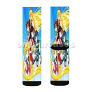 Beautiful Sailor Moon Custom Sublimation Printed Socks Polyester Acrylic Nylon Spandex with Small Medium Large Size