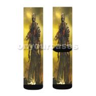 Dark Souls 3 Custom Sublimation Printed Socks Polyester Acrylic Nylon Spandex with Small Medium Large Size