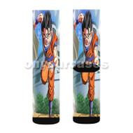 Gohan Dragon Ball Z Custom Sublimation Printed Socks Polyester Acrylic Nylon Spandex with Small Medium Large Size