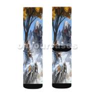 Horizon Zero Dawn Game Custom Sublimation Printed Socks Polyester Acrylic Nylon Spandex with Small Medium Large Size