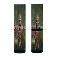 Iron Maiden The Book of Souls Zombie Custom Sublimation Printed Socks Polyester Acrylic Nylon Spande with Small Medium Large Size
