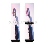 Jo Jo Teases Custom Sublimation Printed Socks Polyester Acrylic Nylon Spandex with Small Medium Large Size