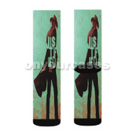 Justified TV Show Custom Sublimation Printed Socks Polyester Acrylic Nylon Spandex with Small Medium Large Size