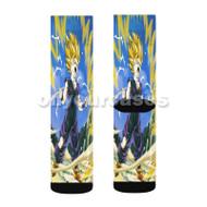 Kid Gohan Dragon Ball Z Custom Sublimation Printed Socks Polyester Acrylic Nylon Spandex with Small Medium Large Size