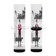 Panic at The Disco Brendon Urie Red Custom Sublimation Printed Socks Polyester Acrylic Nylon Spande with Small Medium Large Size
