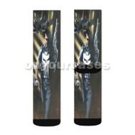 Punisher Daredevil Custom Sublimation Printed Socks Polyester Acrylic Nylon Spandex with Small Medium Large Size