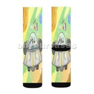 Rick and Morty Spaceship Custom Sublimation Printed Socks Polyester Acrylic Nylon Spandex with Small Medium Large Size