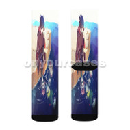 Sasuke Uchiha Naruto Shippuden Custom Sublimation Printed Socks Polyester Acrylic Nylon Spandex with Small Medium Large Size