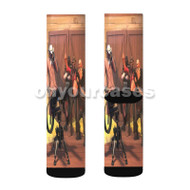 Team Fortress 2 Red Custom Sublimation Printed Socks Polyester Acrylic Nylon Spandex with Small Medium Large Size