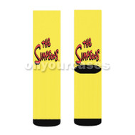 The Simpsons Custom Sublimation Printed Socks Polyester Acrylic Nylon Spandex with Small Medium Large Size