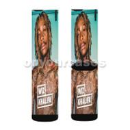 Wiz Khalifa Tattooes Custom Sublimation Printed Socks Polyester Acrylic Nylon Spandex with Small Medium Large Size