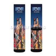Archer Comic Custom Sublimation Printed Socks Polyester Acrylic Nylon Spandex with Small Medium Large Size