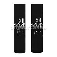 Daft Punk Pulp Fiction Custom Sublimation Printed Socks Polyester Acrylic Nylon Spandex with Small Medium Large Size
