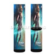 DC s Legends of Tomorrow Hawkman Custom Sublimation Printed Socks Polyester Acrylic Nylon Spandex with Small Medium Large Size