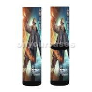 DC s Legends of Tomorrow Heat Wave Custom Sublimation Printed Socks Polyester Acrylic Nylon Spandex with Small Medium Large Size