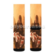 Fallout 4 Sugar Bombs Custom Sublimation Printed Socks Polyester Acrylic Nylon Spandex with Small Medium Large Size