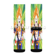 Goku Gohan Goten Trunks Super Saiyan Custom Sublimation Printed Socks Polyester Acrylic Nylon Spande with Small Medium Large Size