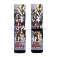 Gudam Wing Characters Custom Sublimation Printed Socks Polyester Acrylic Nylon Spandex with Small Medium Large Size