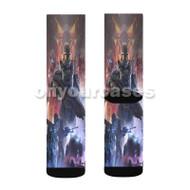 Halo 5 Guardians 2 Custom Sublimation Printed Socks Polyester Acrylic Nylon Spandex with Small Medium Large Size