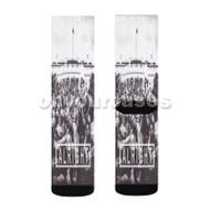 Kendrick Lamar Alright Black and White Custom Sublimation Printed Socks Polyester Acrylic Nylon Span with Small Medium Large Size