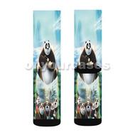Kung Fu Panda 3 Custom Sublimation Printed Socks Polyester Acrylic Nylon Spandex with Small Medium Large Size