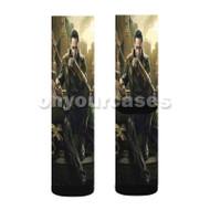 Loki Laufeyson The Avengers Custom Sublimation Printed Socks Polyester Acrylic Nylon Spandex with Small Medium Large Size