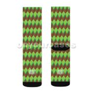 Minecraft Land Custom Sublimation Printed Socks Polyester Acrylic Nylon Spandex with Small Medium Large Size