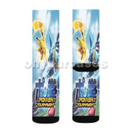 Pokken Tournament Custom Sublimation Printed Socks Polyester Acrylic Nylon Spandex with Small Medium Large Size