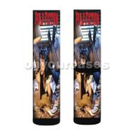 Pulp Fiction Smoke Custom Sublimation Printed Socks Polyester Acrylic Nylon Spandex with Small Medium Large Size