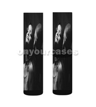 Rihanna feat Drake Custom Sublimation Printed Socks Polyester Acrylic Nylon Spandex with Small Medium Large Size