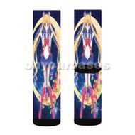 Sailor Moon Rose Custom Sublimation Printed Socks Polyester Acrylic Nylon Spandex with Small Medium Large Size