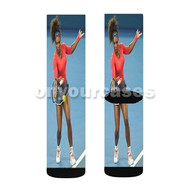 Serena Williams Tennis Custom Sublimation Printed Socks Polyester Acrylic Nylon Spandex with Small Medium Large Size