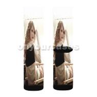 Taylor Swift Glass Custom Sublimation Printed Socks Polyester Acrylic Nylon Spandex with Small Medium Large Size