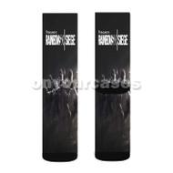 Tom Clancy s Rainbow Six Siege Black Custom Sublimation Printed Socks Polyester Acrylic Nylon Spande with Small Medium Large Size