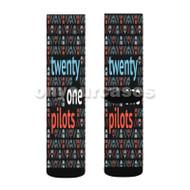 Twenty One Pilots Masks Skul Custom Sublimation Printed Socks Polyester Acrylic Nylon Spandex with Small Medium Large Size